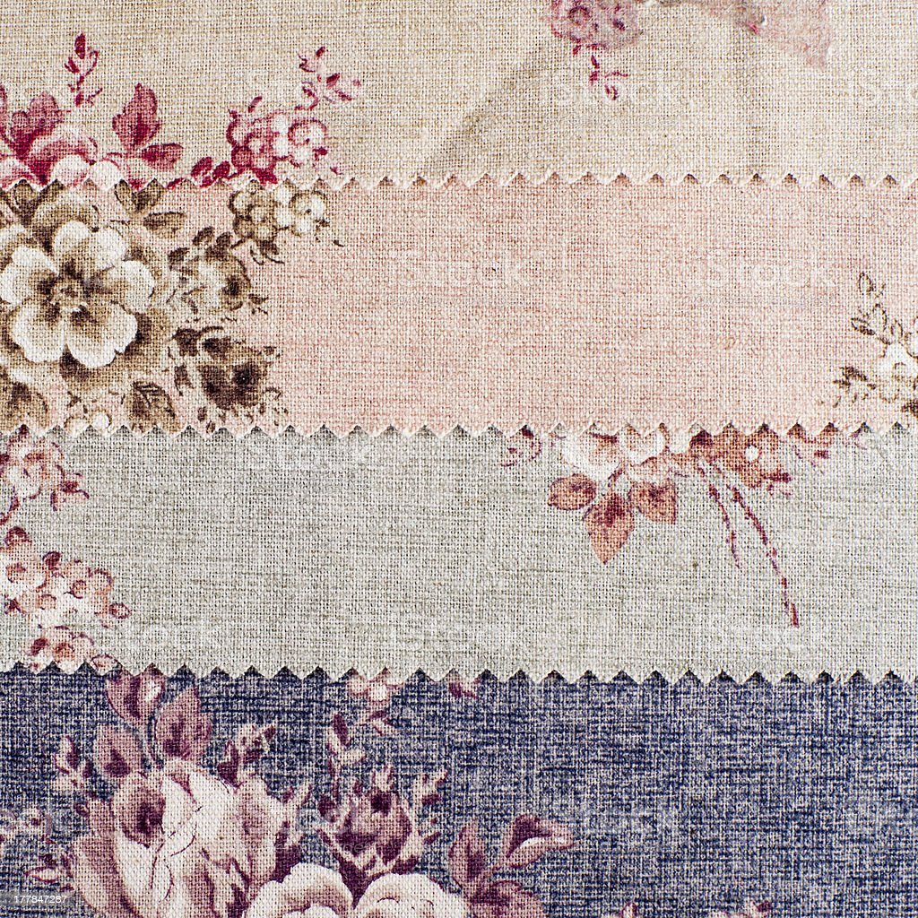 Texture of Fabric with Colored Flowers. Background. royalty-free stock photo