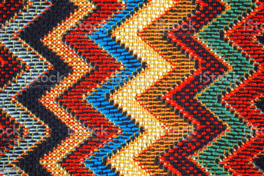Texture Of Fabric With Traditional Mexican Pattern Royalty Free Stock Photo