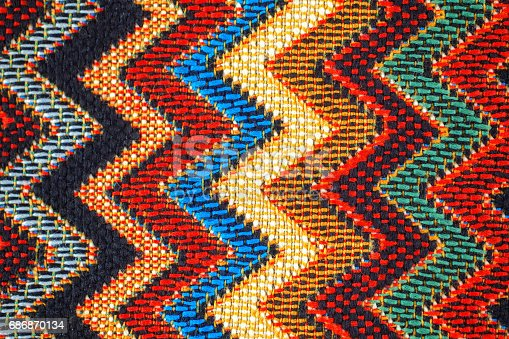 istock Texture of  fabric with  traditional Mexican pattern 686870134