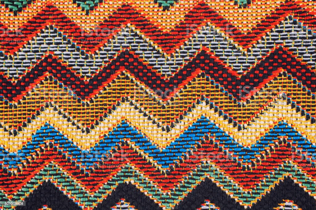 Texture of  fabric with  traditional Mexican pattern stock photo