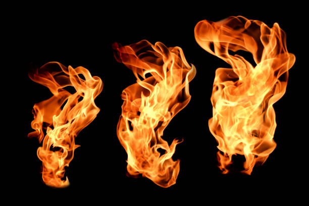 Texture of fire on a black background. Texture of fire on a black background. shooting a weapon stock pictures, royalty-free photos & images