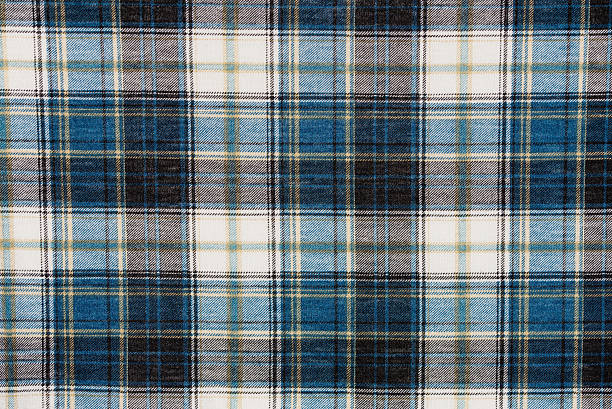 Texture of flannel shirt Stripped flannel shirt texture. plaid stock pictures, royalty-free photos & images