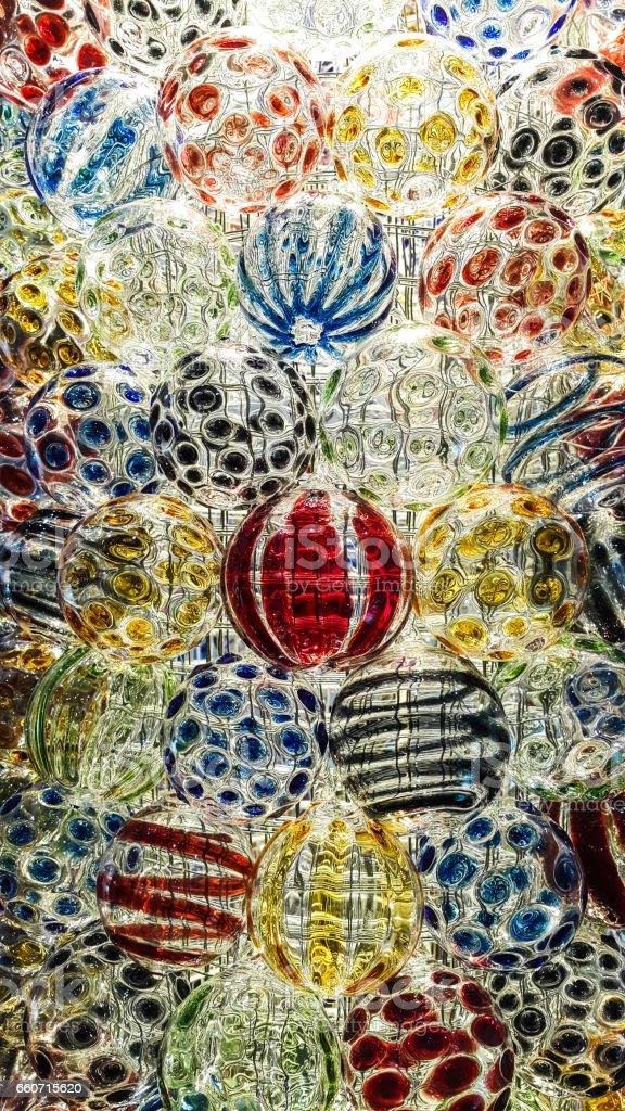 Texture of glass ball - foto de acervo