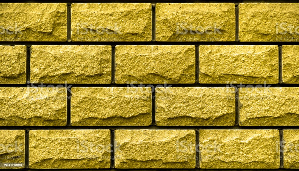 Texture of gold decorative tiles in form of brick zbiór zdjęć royalty-free