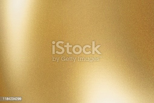 istock Texture of gold metallic polished glossy with copy space, abstract background 1184234299