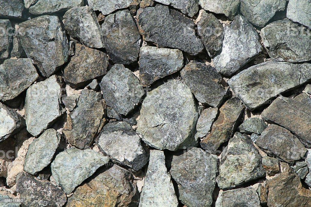 Texture of gravel stone stock photo