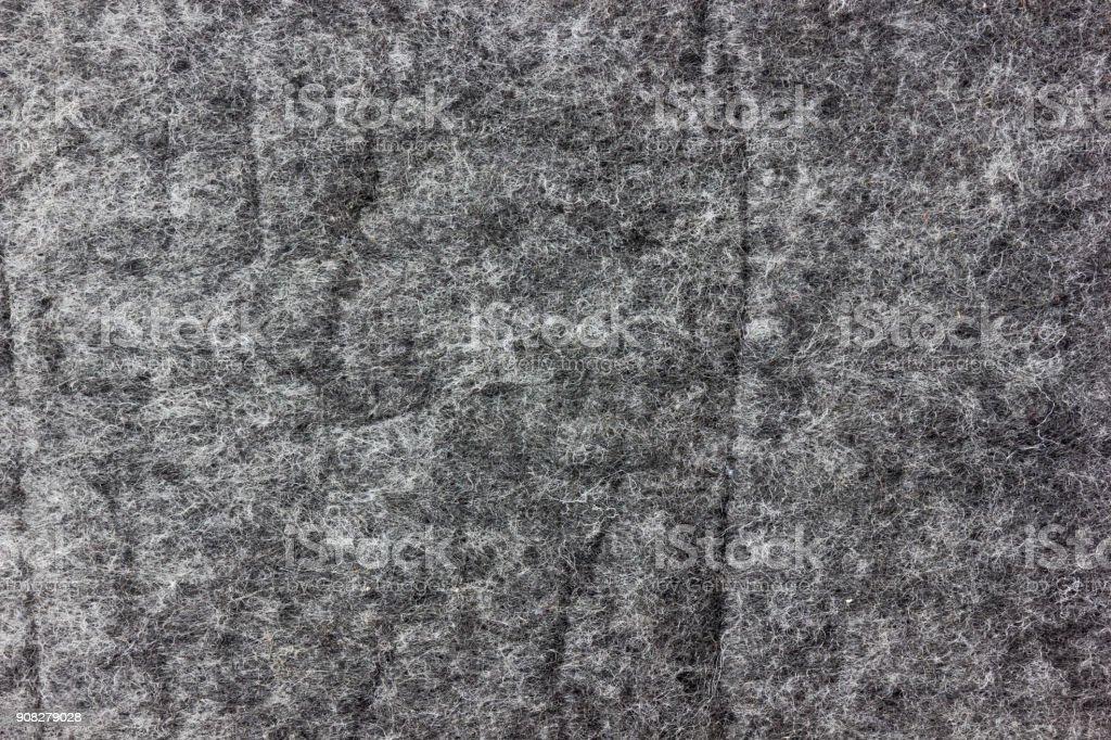 Texture of gray felt. stock photo