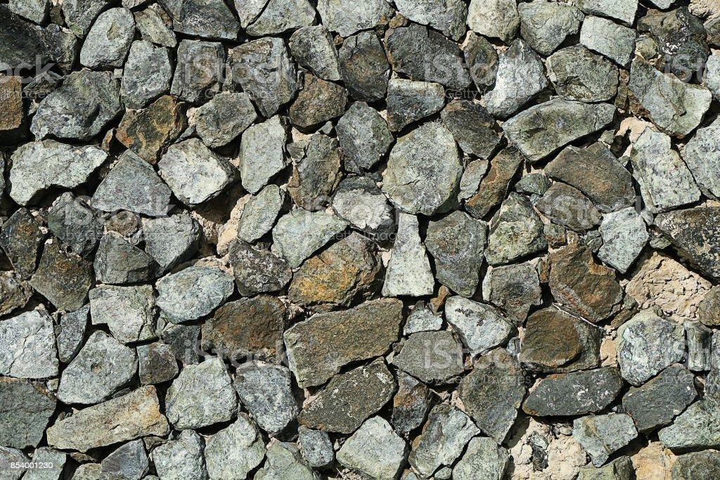 texture of gray gravel stock photo