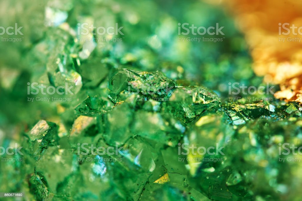Texture of green Background, crystals agate, Macro. stock photo