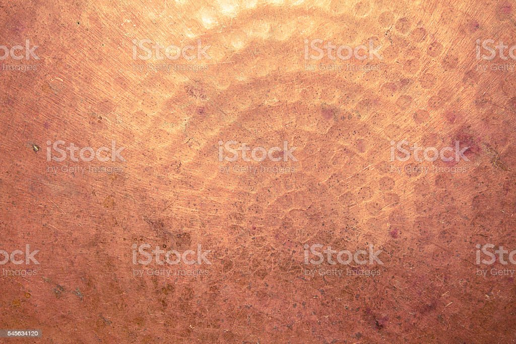 texture of grunge copper tray stock photo