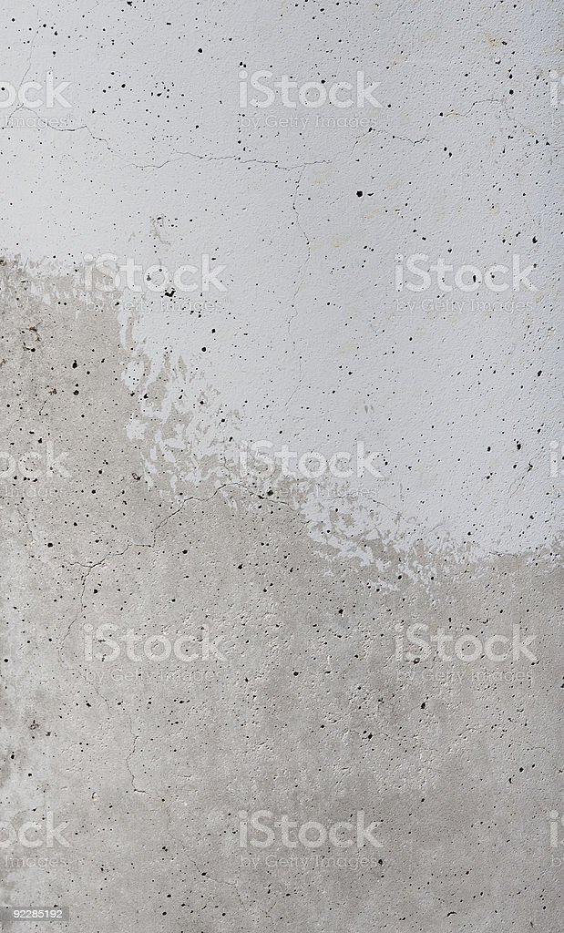 Texture of Half Painted Concrete Slab stock photo