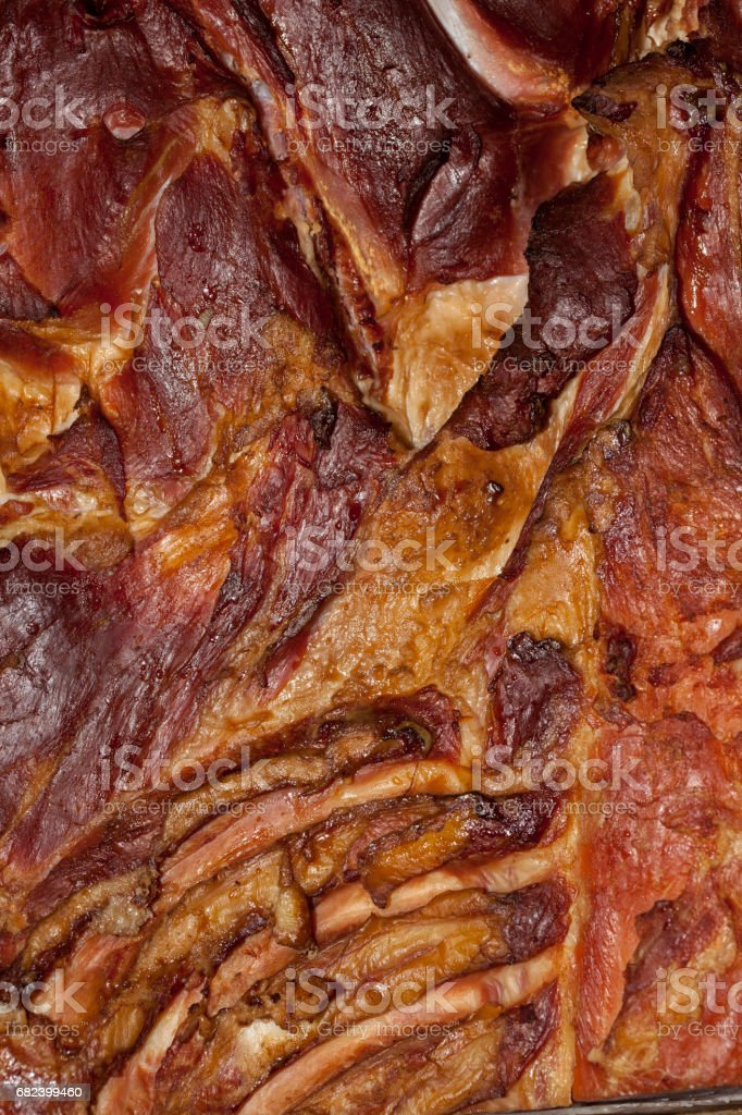 Texture of homemade smoked bacon,  background royalty-free stock photo