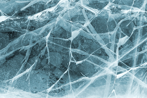 Texture of ice. Winter background.