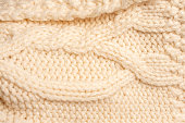 texture of knitted woolen clothes
