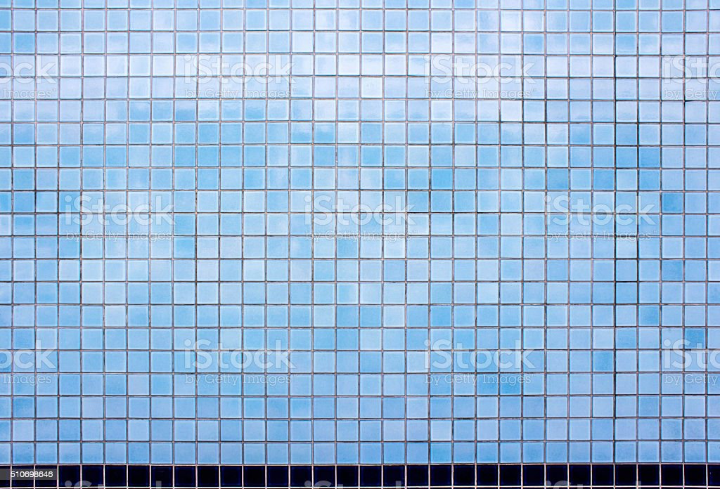 texture of light blue wall tile stock photo