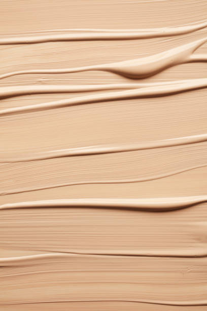 texture of liquid foundation - make up stock photos and pictures