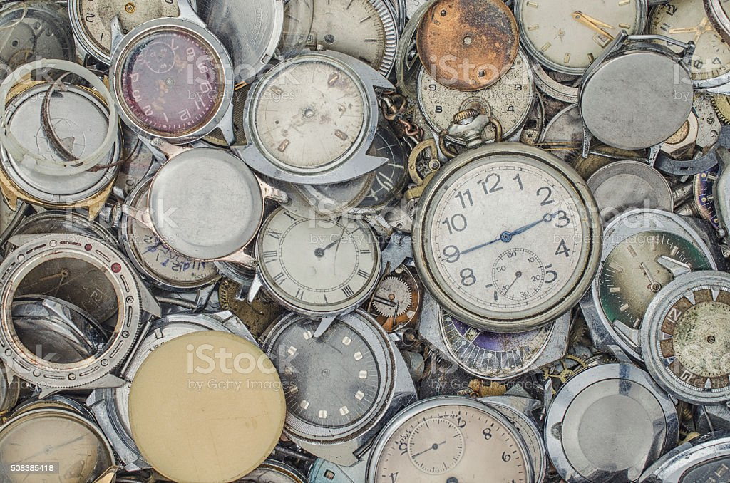 texture of mechanical watches stock photo