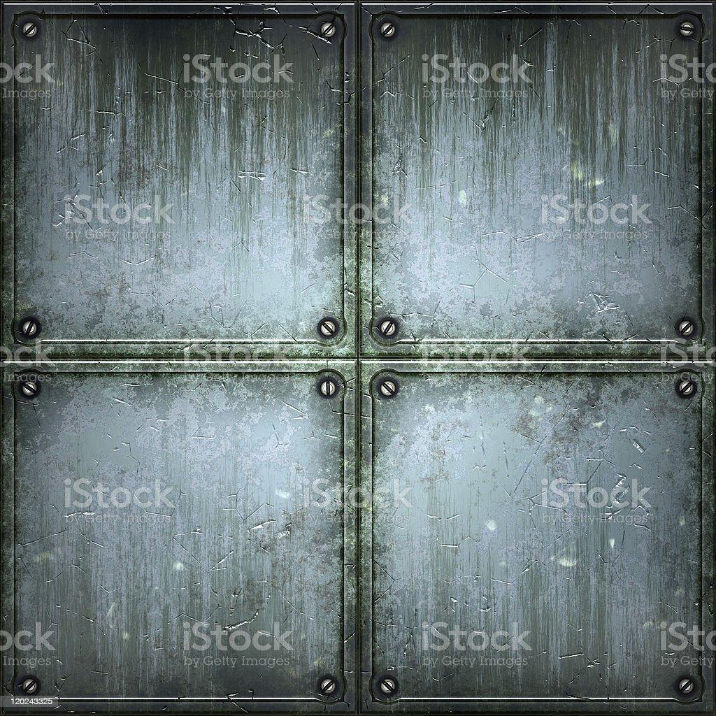 Struktur aus Metall. – Foto