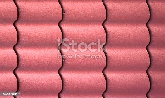 istock Texture of metal shingles close-up 873878942