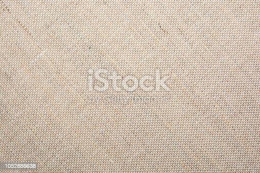 475709907istockphoto Texture of natural linen fabric 1052886638