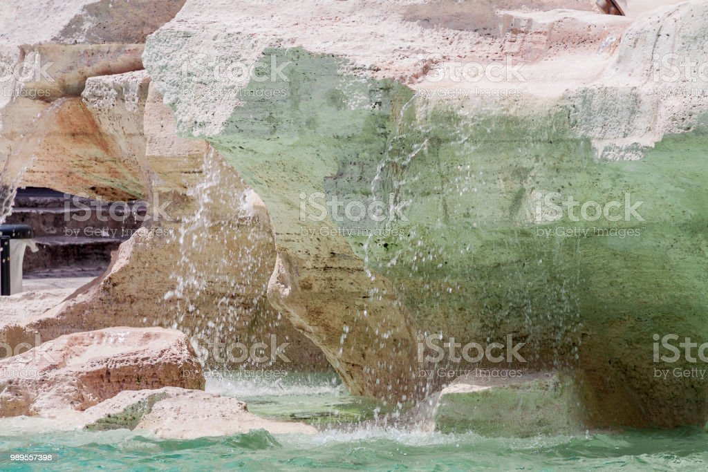 History and memory in white pink green texture nature stone - object...