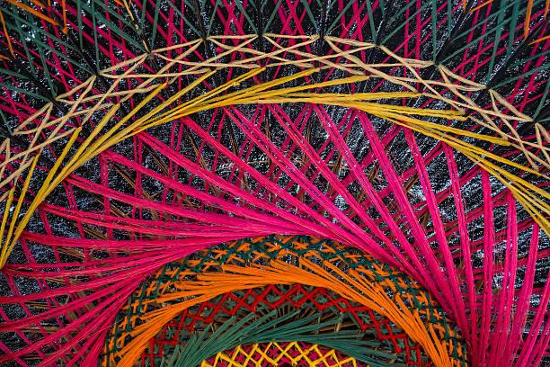 Texture of northern Thai umbrella stock photo