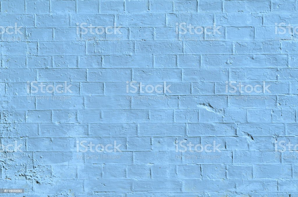 Texture of old blue brick wall surface with cement stock photo