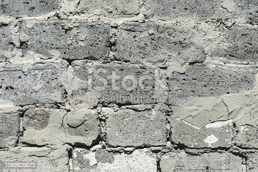 abstract background from the texture of old brick closeup