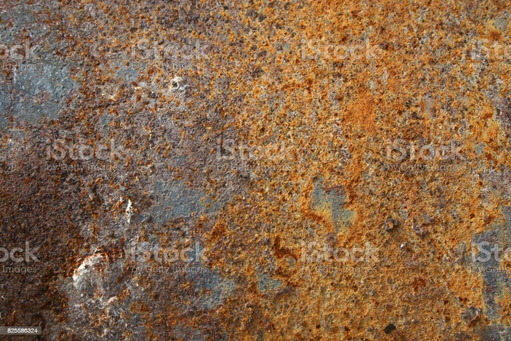 Texture of old colorful rusty surface stock photo