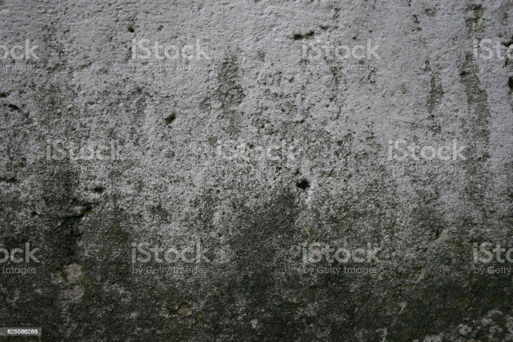 Texture of old gray cement plaster wall stock photo