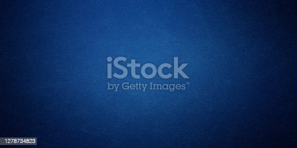istock Texture of old navy blue paper closeup 1278734823