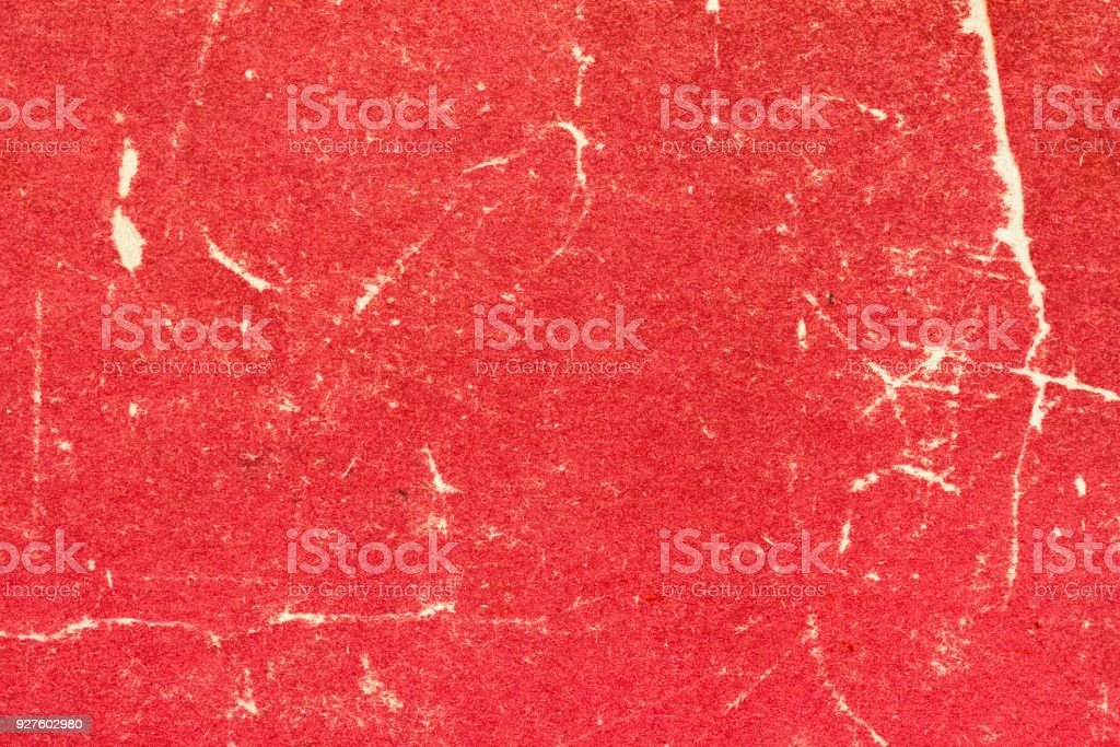 Texture of old red scratched and torn paper. Abstract background for design stock photo