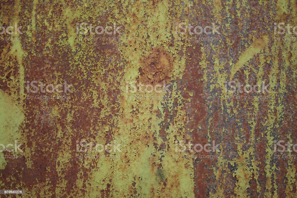 Texture of old rusty painted wall stock photo