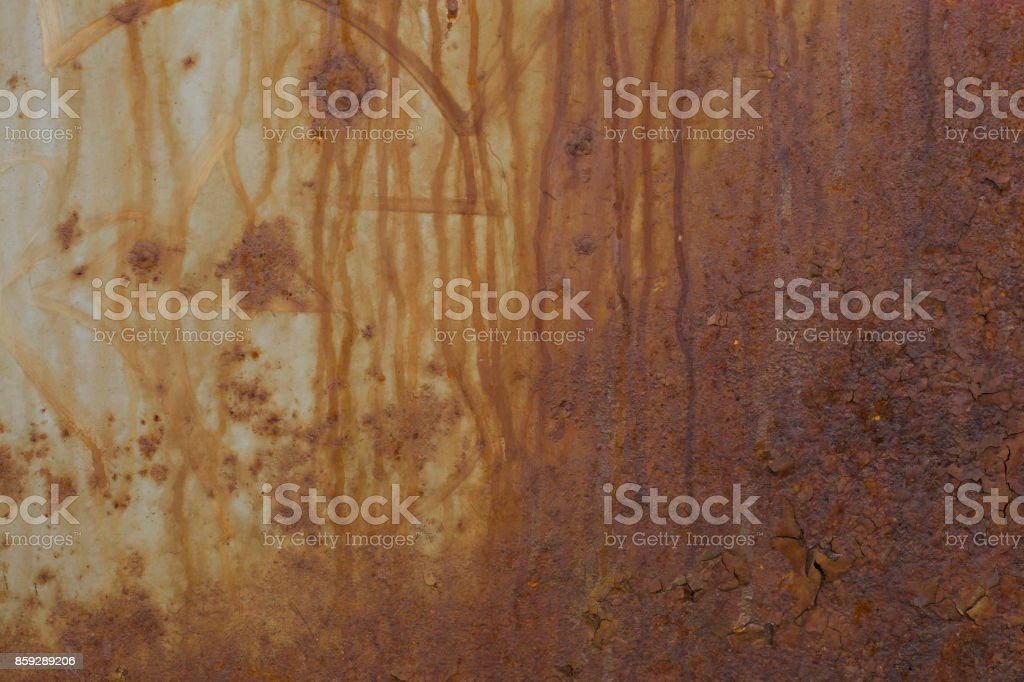 Texture of old rusty surface wall royalty-free stock photo