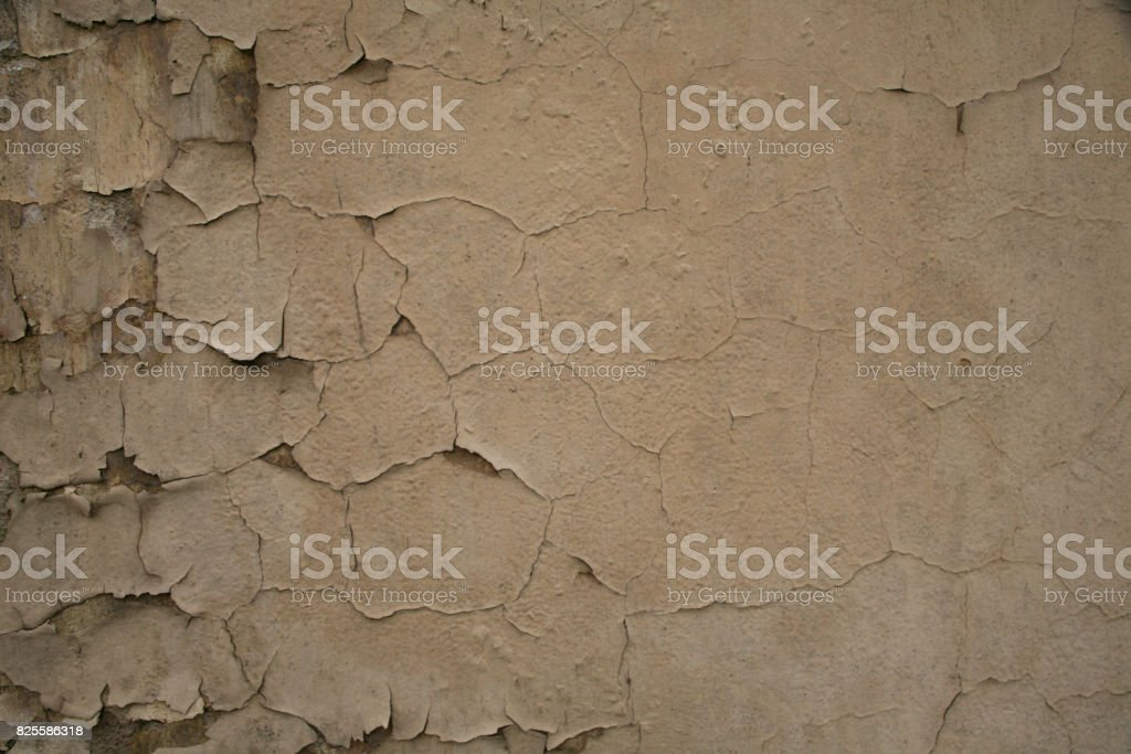 Texture of old shabby painted wall stock photo