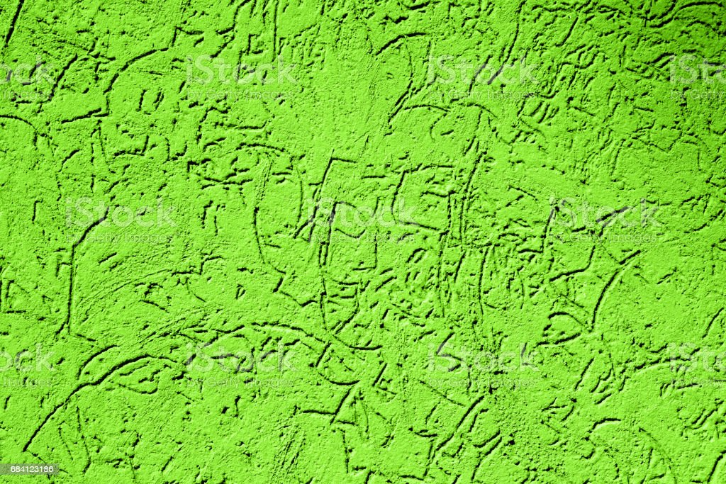 Texture of old vintage green plaster wall foto stock royalty-free