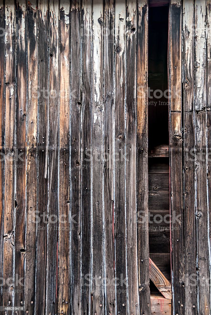 Texture of old weathered wood and rattan stock photo