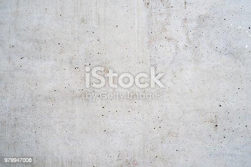 istock Texture of old white concrete 979947008