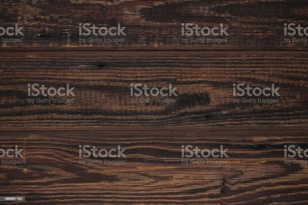 Texture of old wood with dark brown color stock photo