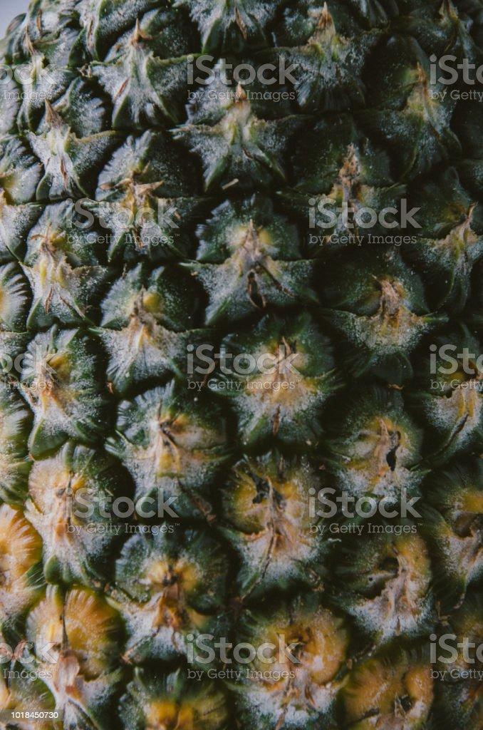 Textura de casca de abacaxi - foto de acervo