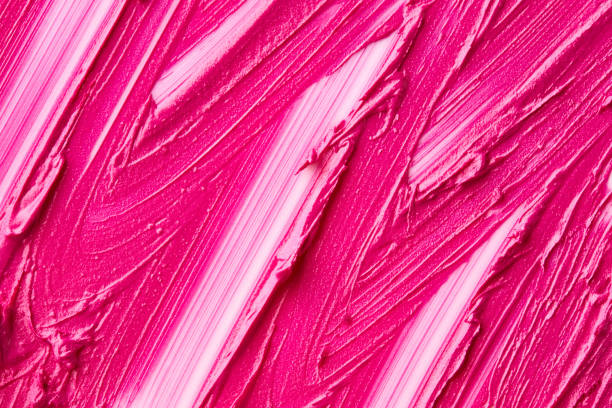 Texture of pink lipstick stock photo