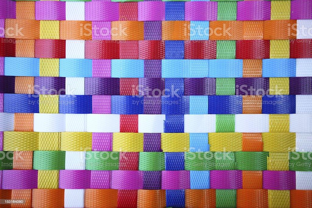 texture of plastic weave stock photo