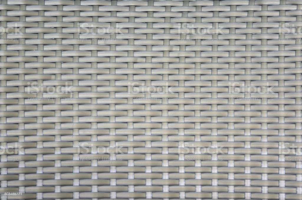 close up of synthetic rattan weave texture as used on outdoor garden...