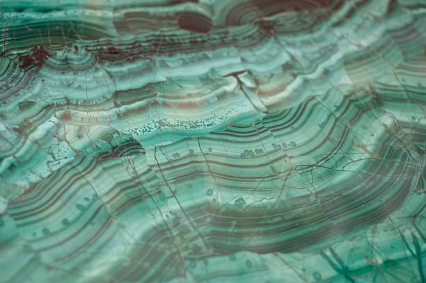 struktur aus malachit - malachit stock-fotos und bilder