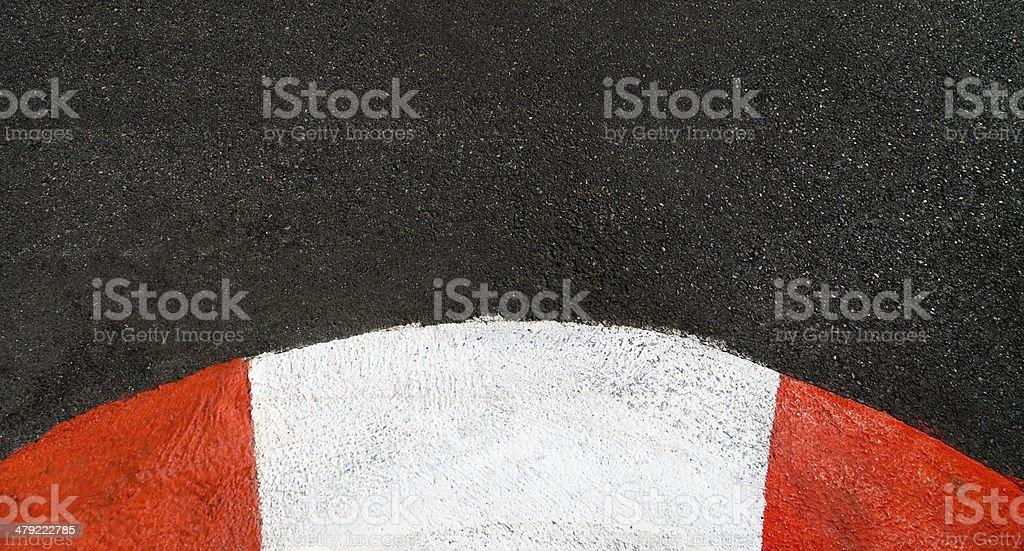 Texture d'asphalte de course et de trottoir sur circuit Grand Prix tringle - Photo