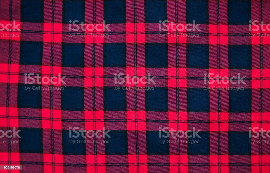 Texture Of Red Black Checkered Fabric Stock Photo More Pictures Of