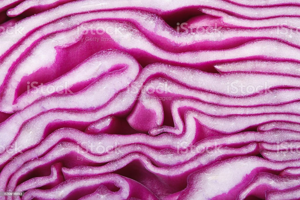 texture of red cabbage close up. macro. horizontal stock photo