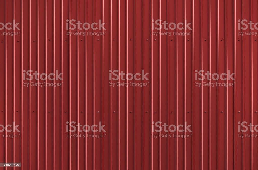 Texture of red metal roofing stock photo