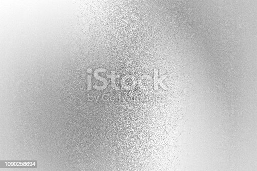 istock Texture of reflection on rough white metallic wall, abstract background 1090258694