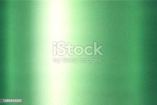 istock Texture of refraction on green metallic, abstract pattern background 1089933052